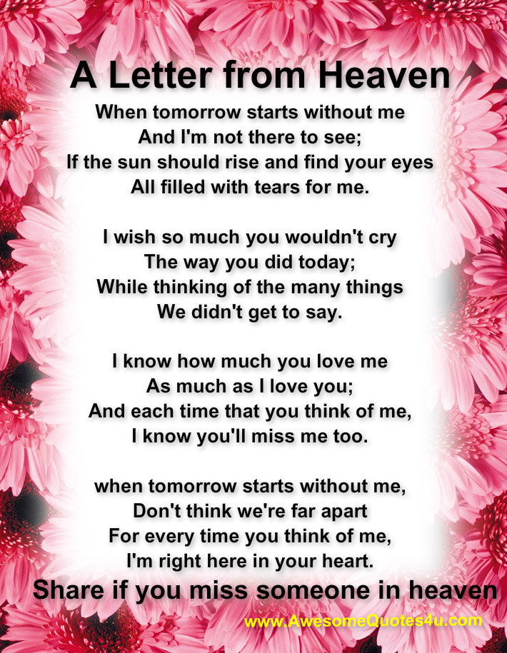Mother In Law In Heaven Quotes Missing QuotesGram