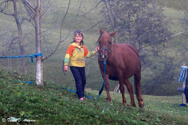 Girl and Horse, Ukraine, Carpathian Mountains by Tania D'Avignon