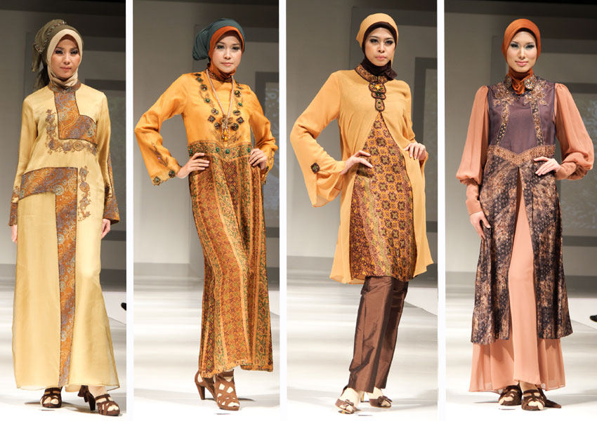 busana muslim nuansa batik saja berikut koleksi model baju muslim