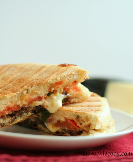 Caprese Panini + Tasty Food eBook Giveaway! ~ The Rookie Cook
