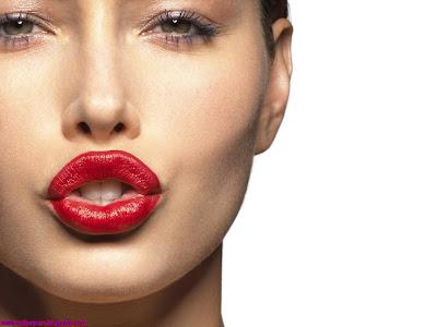 Jessica Biel beautiful red lips HQ wallpaper