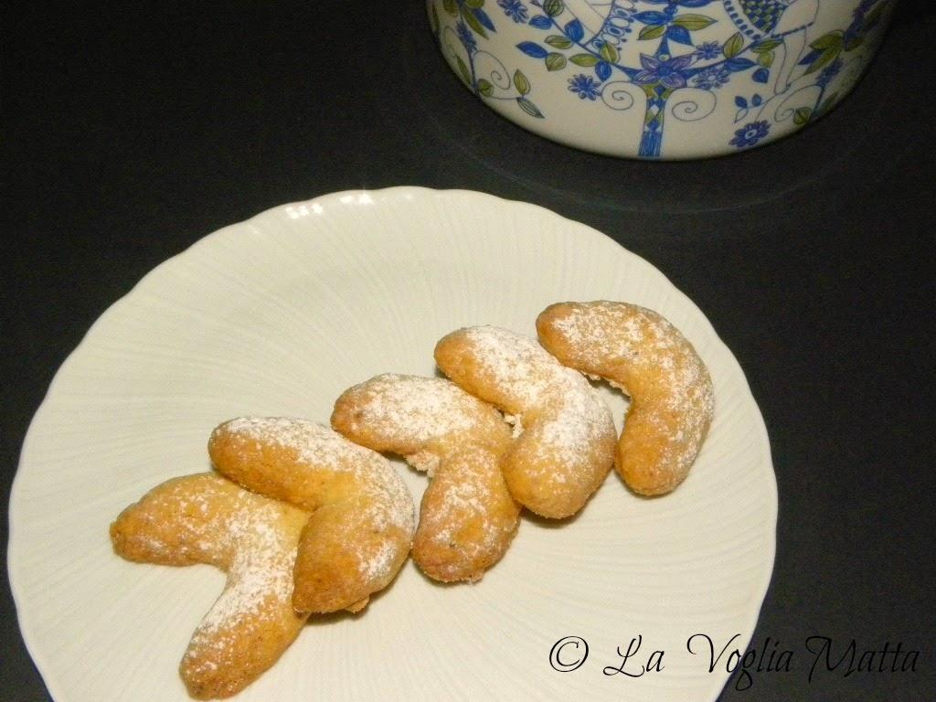 mezzelune alla vaniglia