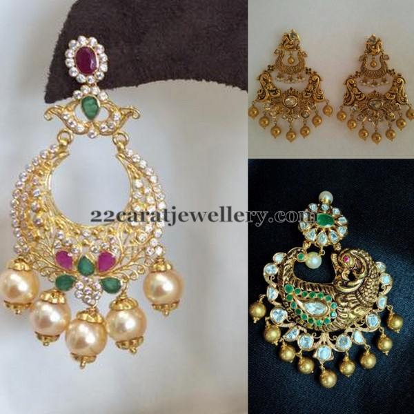 Antique CZ New Pattern Chandbalis