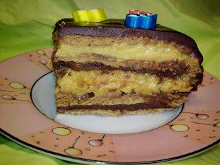 Tarta Vegana de Galleta, Corte