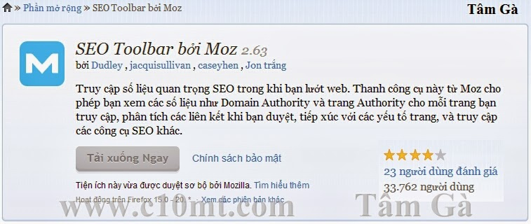 SEO Toolbar by Moz 2.63