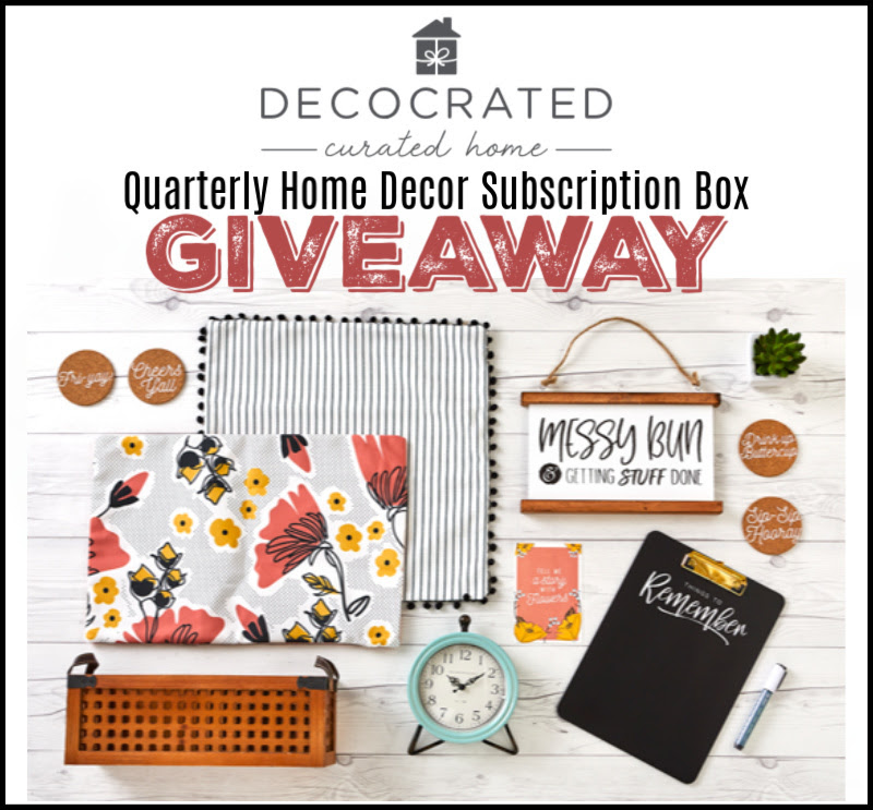 Decorated Quarterly Home Decor Subscription Box Giveaway