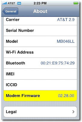 Modem Filmware
