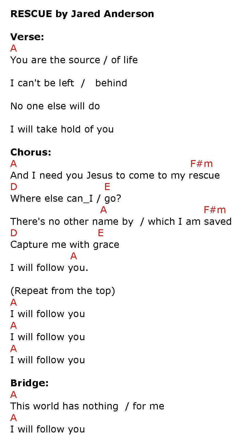 Rescue i need you jesus lyrics and chords sing and praise chord a click to enlarge or print hexwebz Choice Image