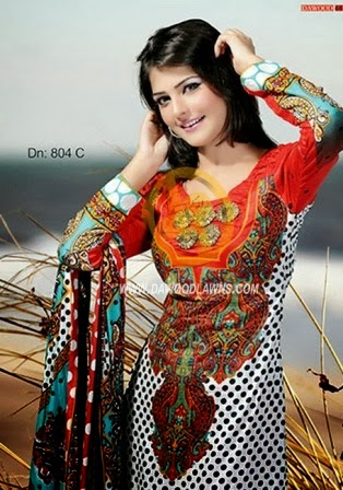 Latest Printed Lawn Designs 2014