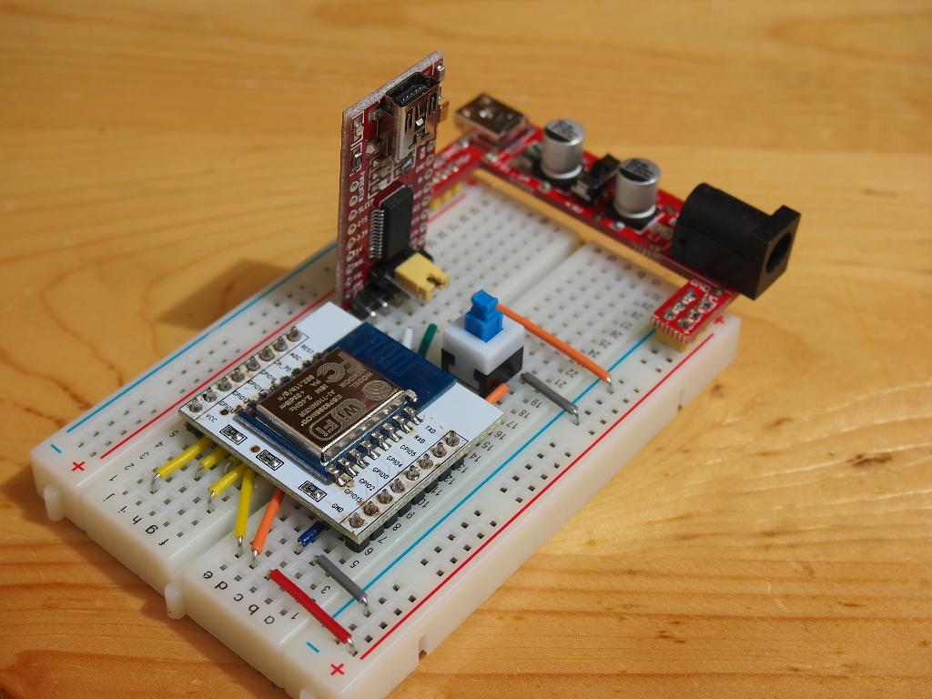 Arduino er fit esp breakout board on breadboard