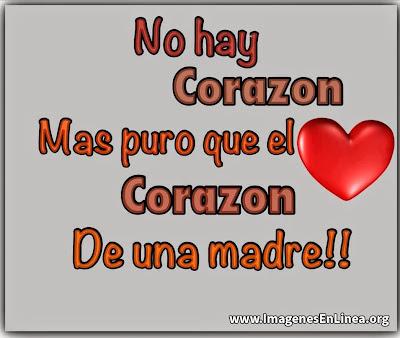 No hay corazón más puro que el de una madre