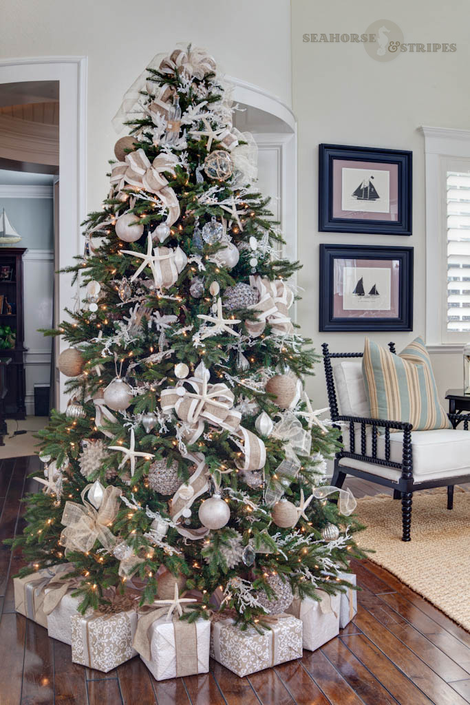 my designer tree begins with an artificial deluxe barcana alaskan fir my goal was to have a designer tree for the event that exemplifies west coast seaside - Designer Christmas Tree