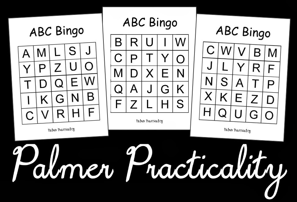 Palmer practicality abc bingo for preschoolers here is a fun simple way for preschoolers to practice their letters abc bingo below are 4 bingo cards with the abcs i would recommend printing them on spiritdancerdesigns Image collections