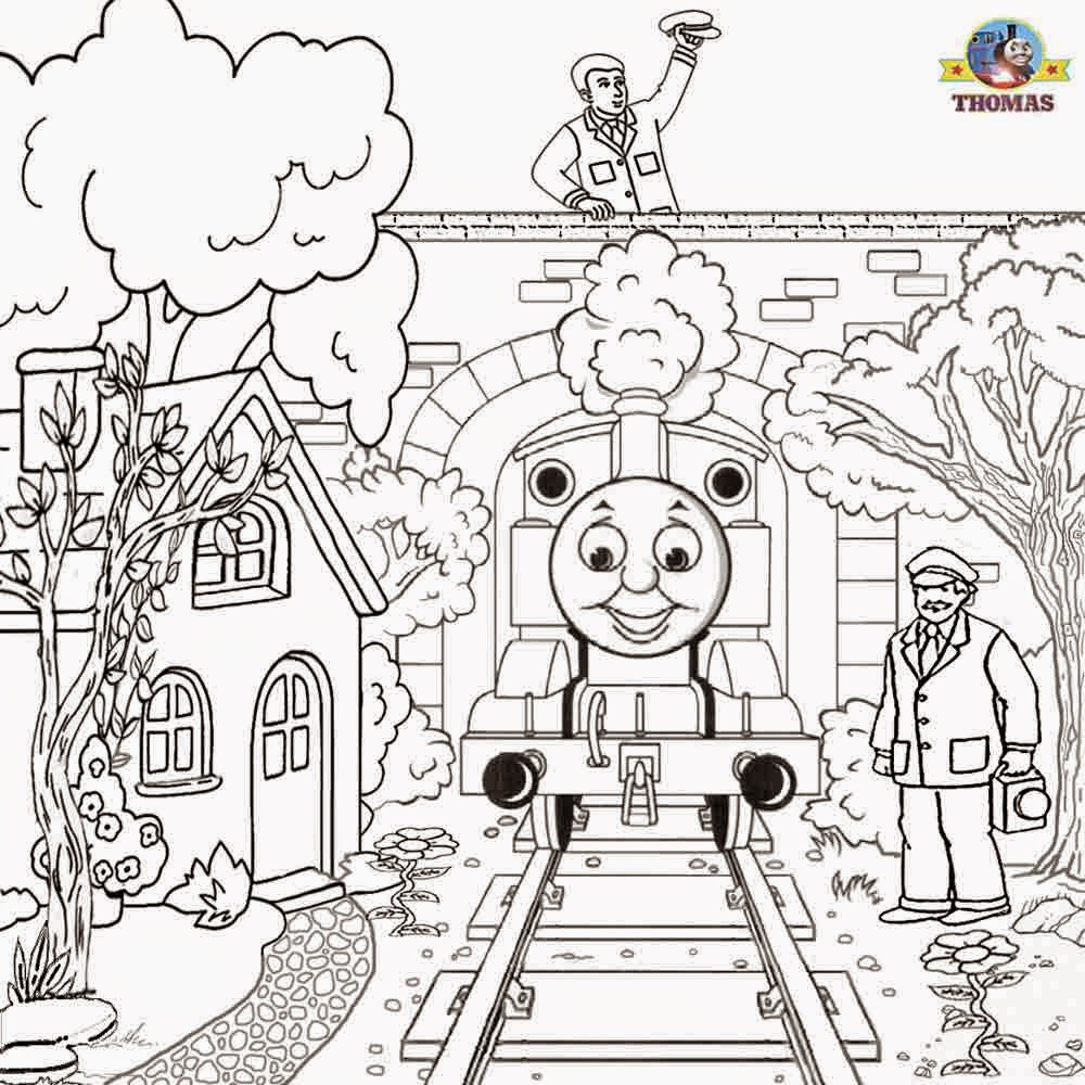 Coloring Pages Thomas The Tank Engine Coloring Pages Free