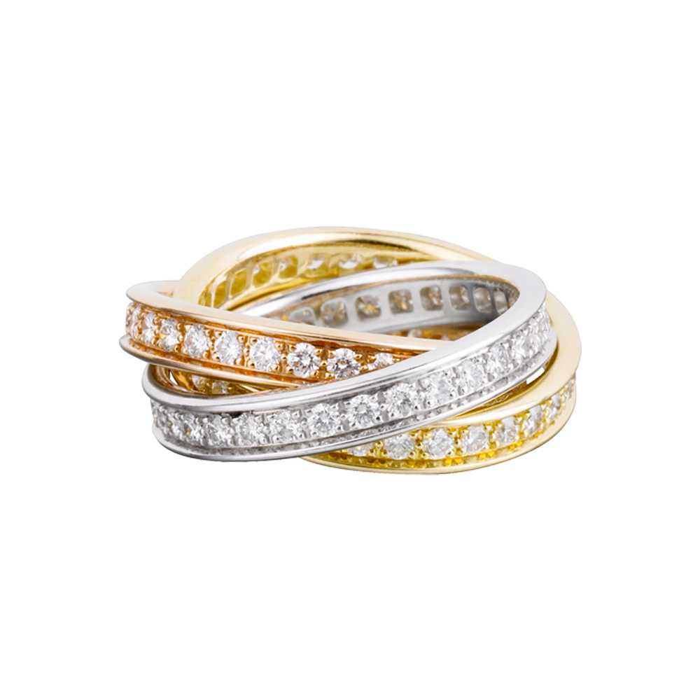 ring trinity ring 3 gold diamond wedding bands