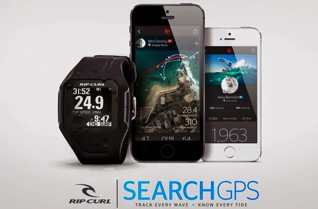 "Rip Curl Search GPS Watch ""Rip Curl Search GPS Watch"" is the world's first GPS surf watch, which enable you to track every trip. Rip Curl Search GPS Watch can register top speed, distance and tally your wave count etc. Rip Curl Search GPS Watch data syncs to the Rip Curl Search App and Website where your surfing comes to life on location maps. Rip Curl Search GPS Watch price Yet to be announced."