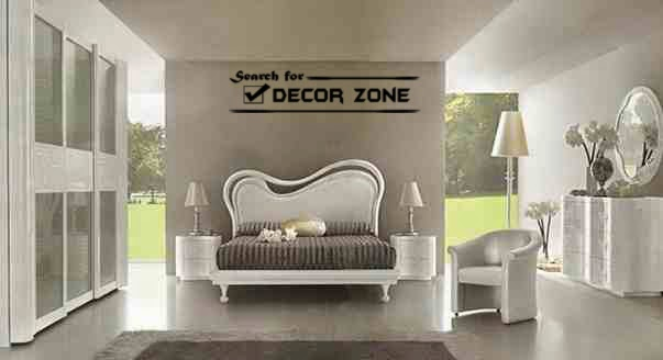 white bedroom furniture sets with streamlined bed headboard. Modern Italian bedroom furniture designs and features