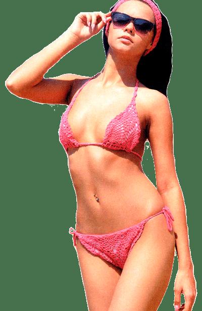 """Ярко-розовый купальник с мотивом """"ананас"""""""