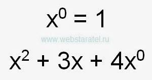 Икс в нулевой степени. Икс в степени ноль равен единице. Математика для блондинок.