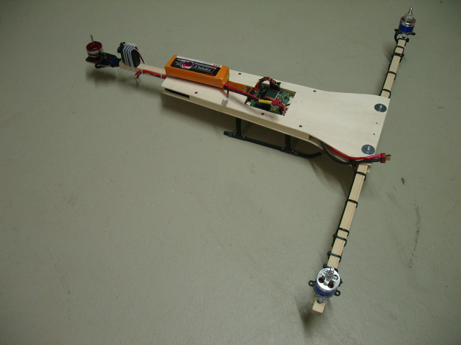 First Tricopter   Projects etc..