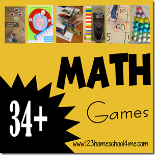 34 Math Games for Preschool and Homeschool
