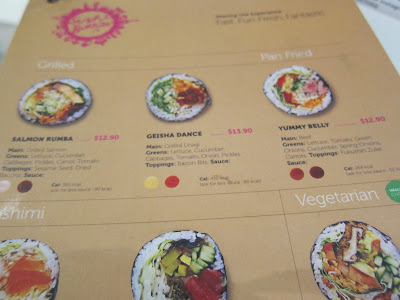 sushi burrito singapore menu