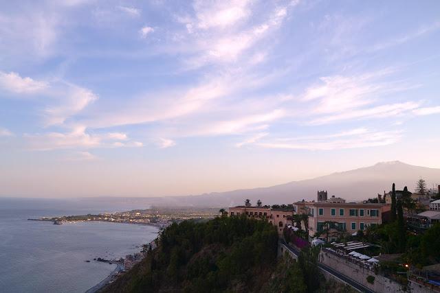 Taormina'dan Etna Manzarası