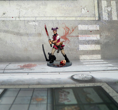 Zombicide Goth Amy Survivor paint painted Zombie Punk