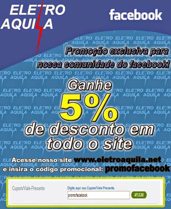 Promoção Facebook - Eletro Aquila