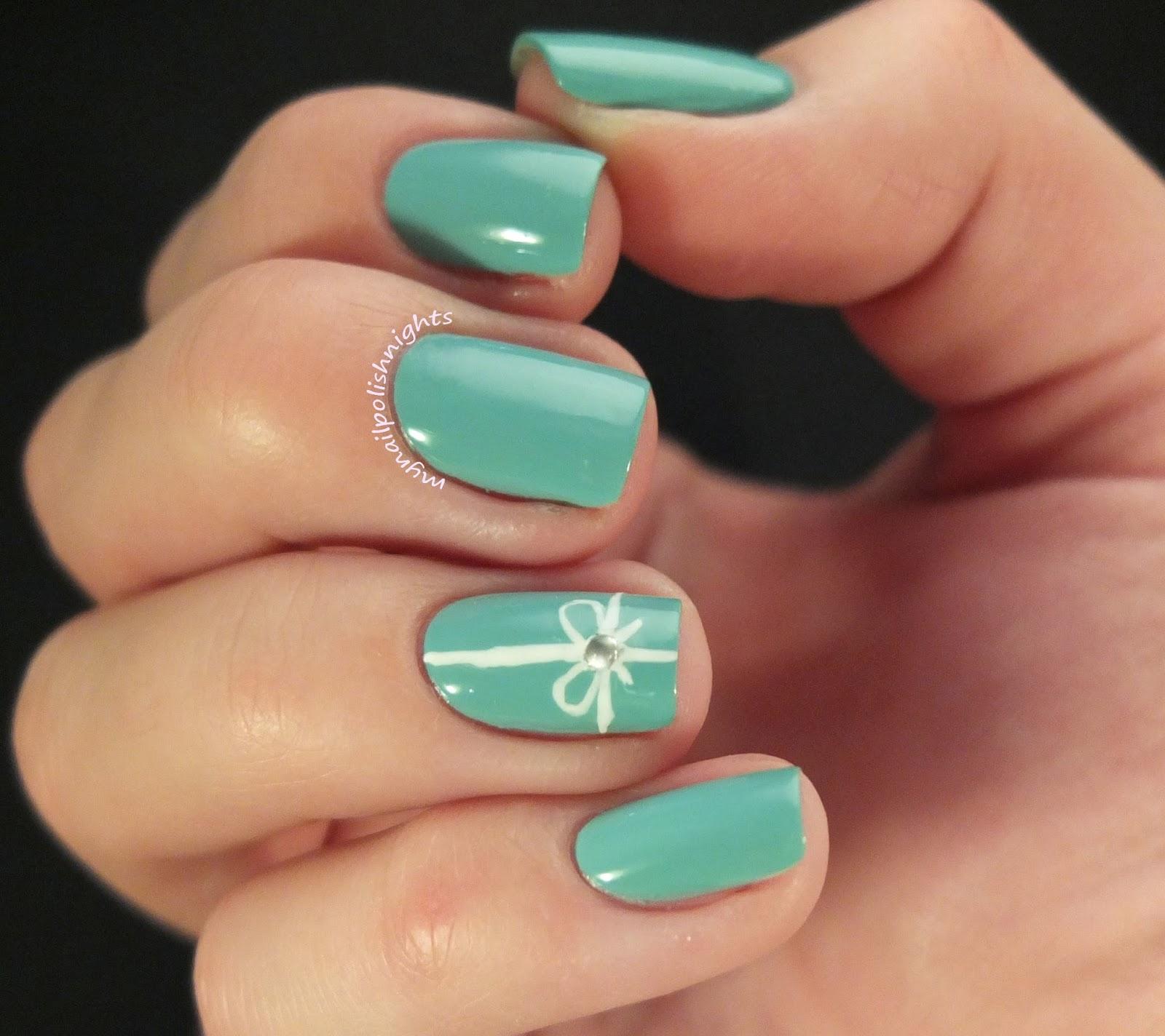 My Nail Polish Nights: My Nail Polish nights Paints Love 4. Tiffany box
