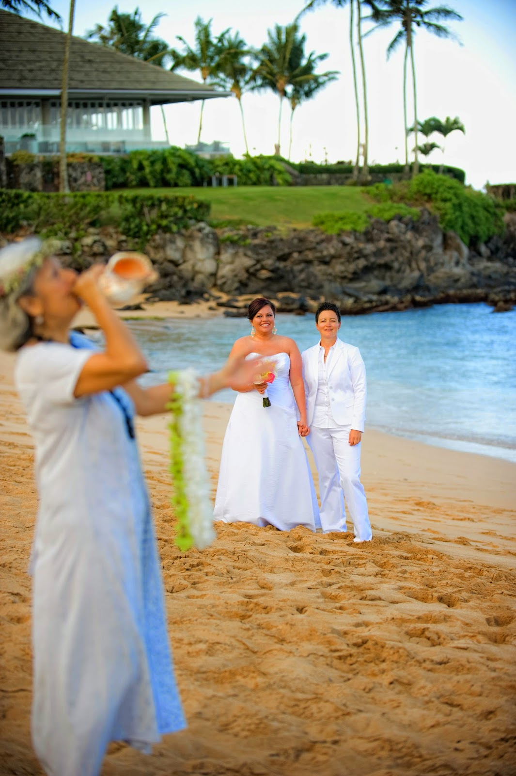 maui wedding, kapalua bay wedding maui, gay weddings maui