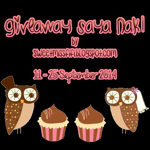http://sweetmissfifi.blogspot.com/2014/09/giveaway-saya-nak.html