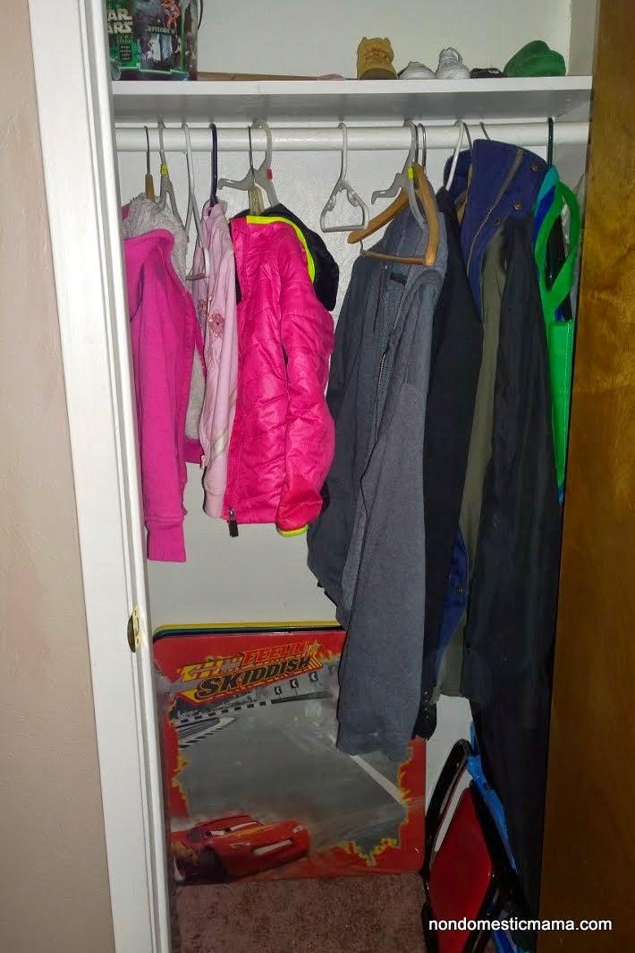 {Day 3} Entryway Closet - 31 Days of De-Hoarding