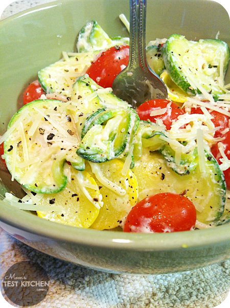 Zucchini & Tomato Pasta with Lemon Yogurt Sauce
