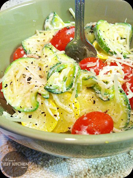 Zucchini & Tomato Pasta with Lemon Yogurt Sauce - Mom's Test Kitchen