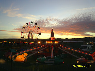 A Fairground at Dusk