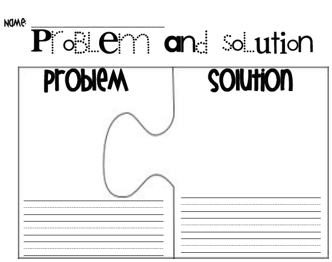 Problem Solution Worksheets - Davezan
