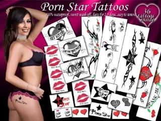 Porn Star Temporary Tattoos