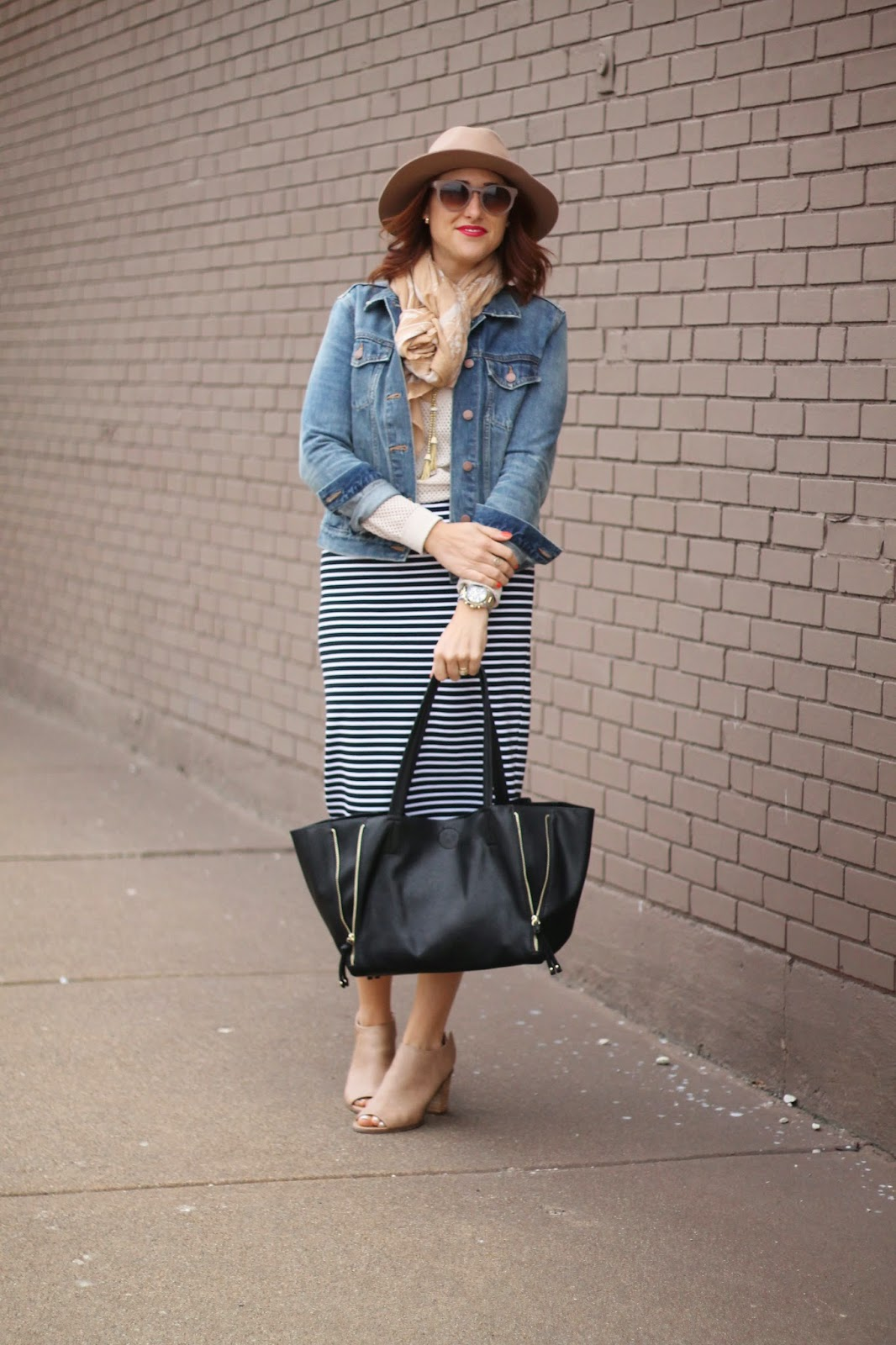 striped, midi, fedora