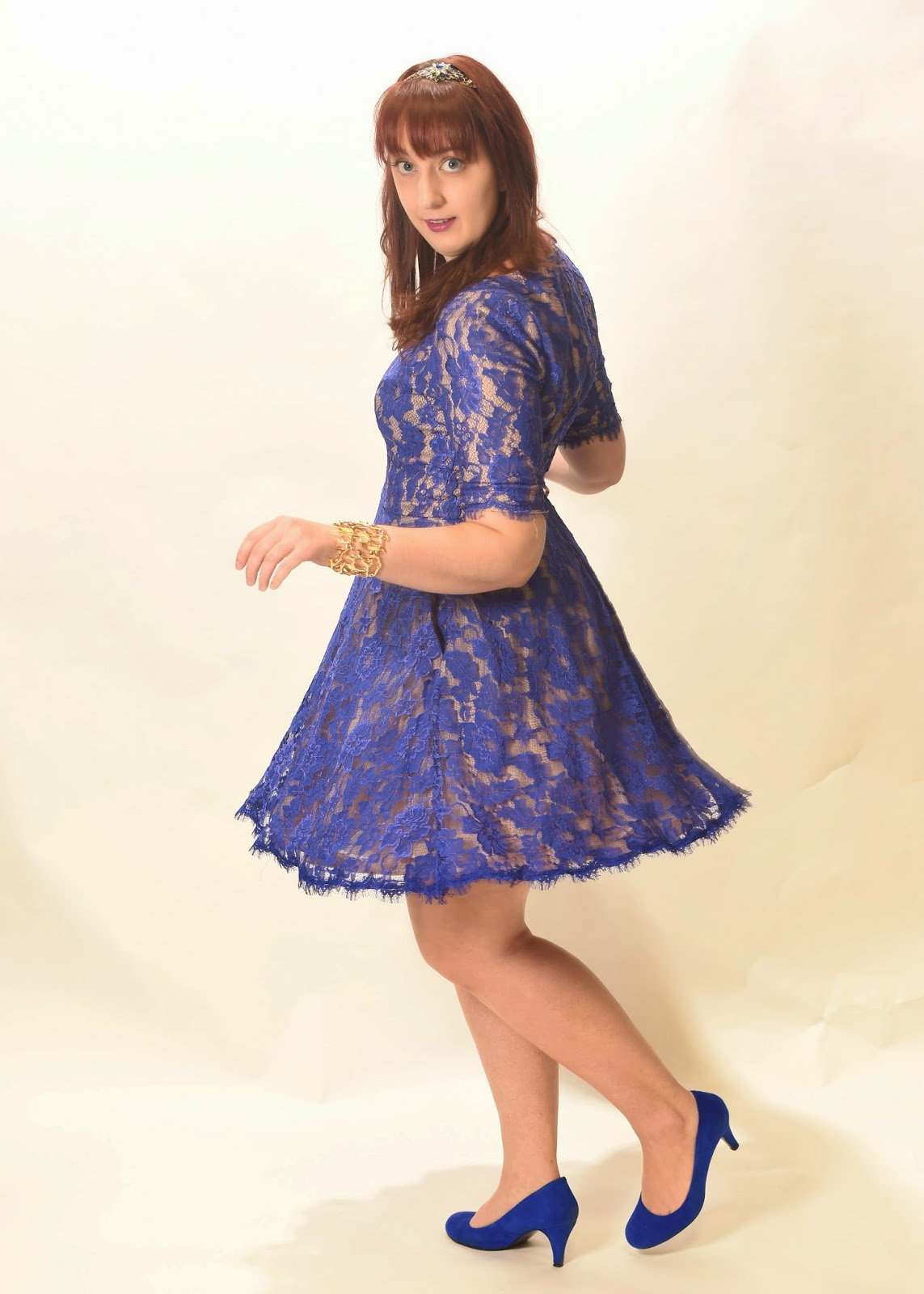 blue lace rent the runway dress