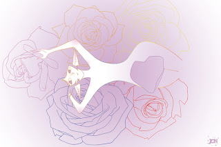 dessinateur illustrateur animateur bande dessinee croquis illustration crayonne animation artist illustrator animator comic book sketch sketches jonathan jon lankry animated fairy fairies flowers rose pink