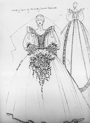 Princess Diana's Wedding Dress Attributes: Sketch dress