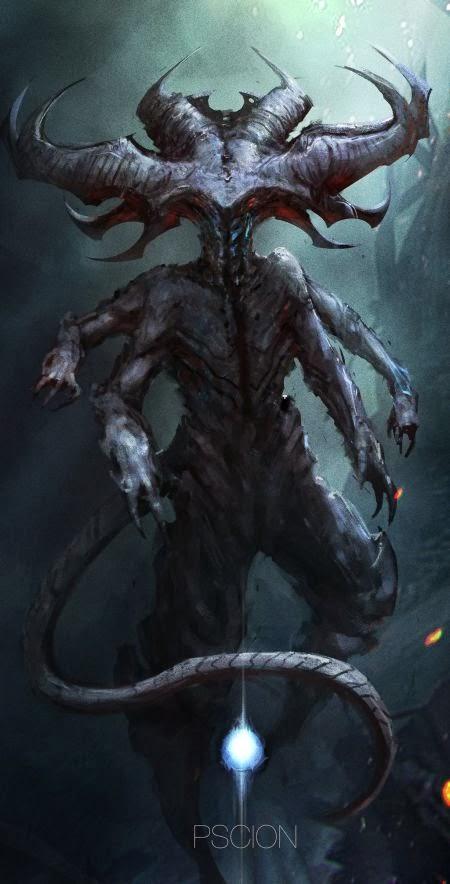 Christian Quinot cloudminedesign deviantart ilustrações fantasia sombria criaturas