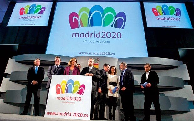 Madrid launches bid for 2020 Olympics with new logo