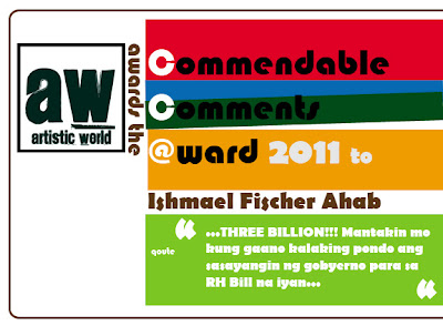 Commendable Comments Award 2011 - Steve