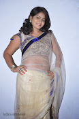 Actress Tanusha Photos in Saree at Present Love Audio-thumbnail-20