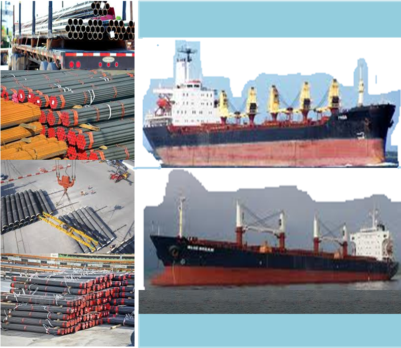 Pipes cargo shipping, shipment of pipe cargo, over dimension cargo