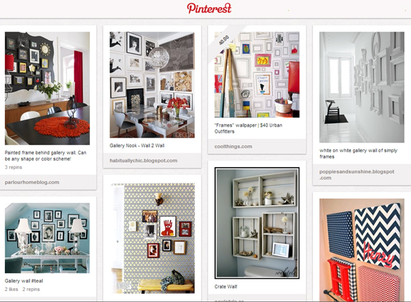 Pinterest Inspiration: Gallery Walls!
