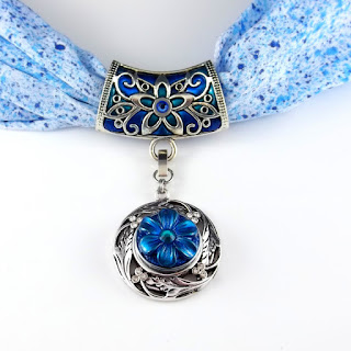 2 good claymates make your scarf jewelry interchangeable using the special clip type clasp the bead cascade can be removed and interchanged with any of our snap base pendants for a different look aloadofball Images