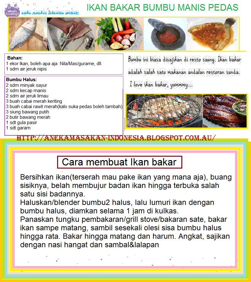 Aneka Masakan Indonesia | Indonesian Food: Ikan Bakar Bumbu Manis ...